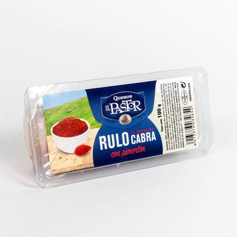 Quesos El Pastor - Ziege Käse mit Paprika El Pastor Walze 100 Grs