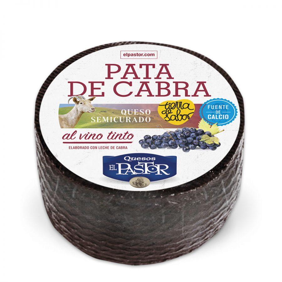 quesos el pastor - cabra semicurado pata vieja al vino 3kg