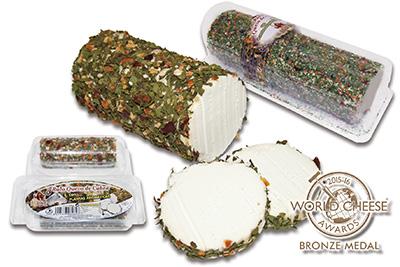 World Cheese 2015 - Rulo Cabra plantas aromáticas